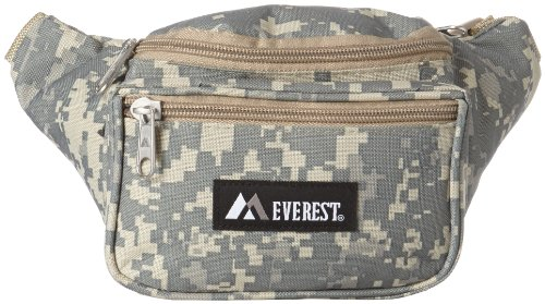 Fanny Camouflage Pack - Everest Digital Camo Waist Pack, Digital Camouflage, One Size