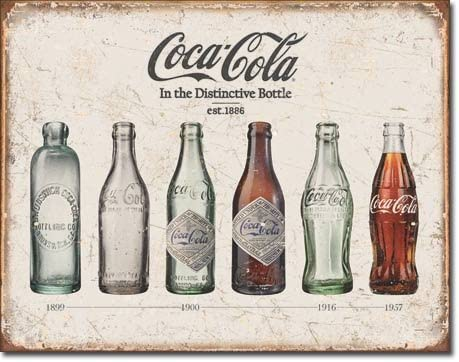 40 cm Coca Cola vintage rétro Wall Display Sign Metal Bottle Top Coke Vintage Rouge