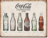 New Coca Cola Coke Bottle Evolution 16'' x 12.5'' (D1839) Vintage Appearance Advertising Tin Sign