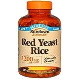 Sundown Naturals Red Yeast Rice 1200 mg Per Serving, 240 Capsules