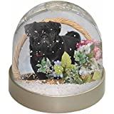 Black Pug Dog Snow Dome Globe Waterball Gift by Advanta - Snow Globes