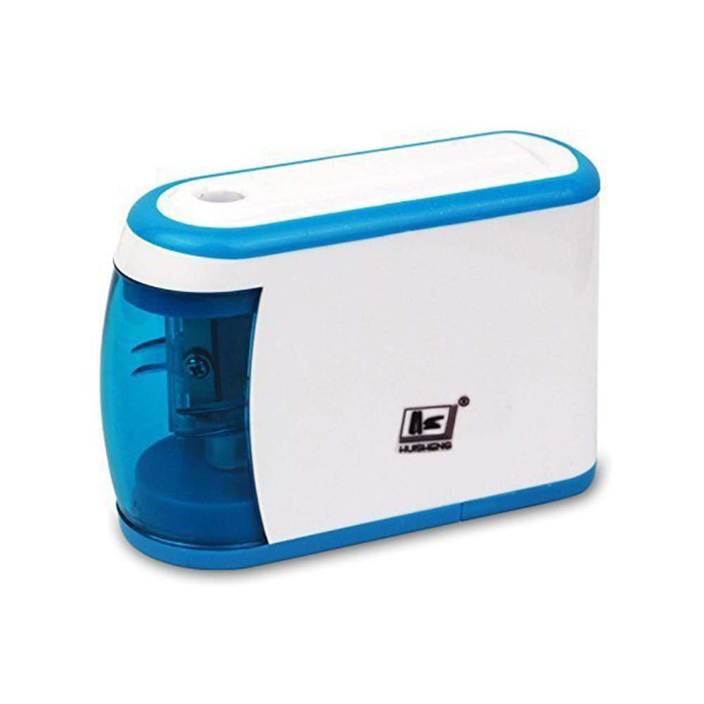 Pencil Sharpener Battery Operated Electric Pencil Sharpener Colored automatic pencil cutter for kids, adults, artists, or sharpeners for pencils, office pencil sharpener (White+Blue)