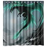 "Special Design Flying Dragon Pattern Waterproof Bathroom Fabric Shower Curtain,Bathroom decor 66"" x 72"" inches"