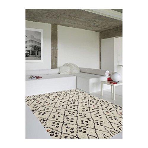Beige Et Noir 160x230 Cm Asma Tapis De Salon Style Berbere En