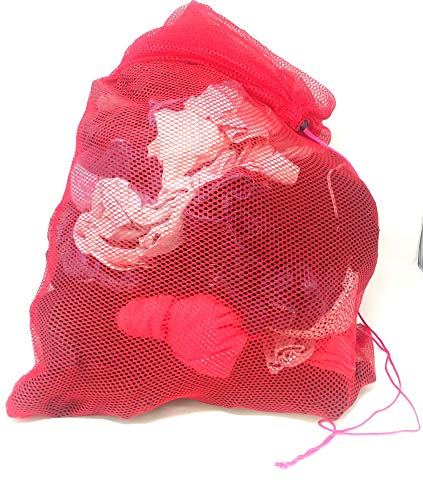 Chachlili 12 Extra Large Drawstring Mesh Laundry Bags with Easy Carry Handle Wholesale Bulk LOT
