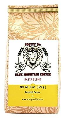 "Scotty D's Jamaican Coffee ""Rasta Lion"" Blend-Jamaican Blue Mountain(Whole Bean) (Medium Roast) 8 oz."