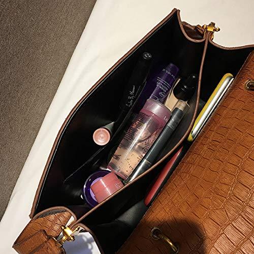 Borsa Qualità Grande Tracolla Brown Da European Cuoio Donna Tote Vintage Pu Kaige Big A Coccodrillo Donna Modello Fashion g1qw4ddx