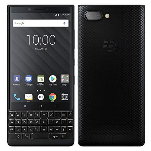 Dual Sim Qwerty Keyboard - BlackBerry KEY2 128GB (Dual-SIM, BBF100-6, English UK QWERTY Keypad, GSM Only, No CDMA) Factory Unlocked 4G Smartphone (Black Edition) - International Version
