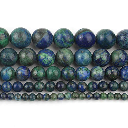 Yochus 10mm Lapis Chrysocolla Gemstone Phoenix Lapis Lazuli Malachite Round Loose Beads Natural Stone Beads for Jewelry Making