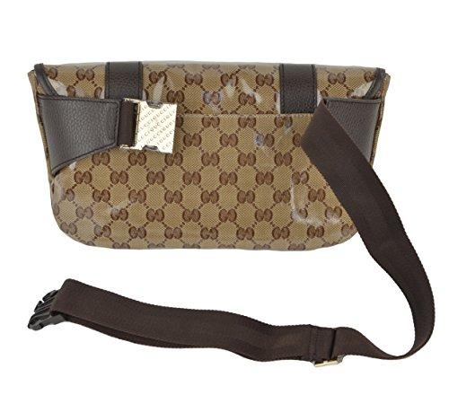0240822982b9 Gucci Waist Belt Bag 374617 Signature Crystal GG Guccissima Logo Fanny Pack:  Amazon.co.uk: Clothing