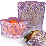Russbe 18724 Metallic Confetti Reusable Snack and Sandwich Bags (Set of 4), Purple