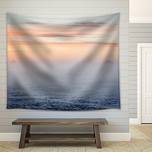 Nature Landscape Fog at Dawn Fabric Wall