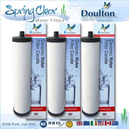 3 Pack - Franke Triflow Compatible Filter Cartridges By Doulton M15 Ultracarb (NO Import Duty or Taxes to pay on this product) (Cartridge Ceramic Filter)