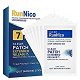 RunNico 21mg Nicotine Patches,Stop Smoking Aid,Transdermal System Patch Step 1,7 Clear Patches