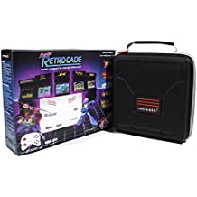 Retro Bit Super RetroCade Plug & Play Classic HD Game Console VERSION 1.1 with Retro-Bit Carrying Case by Geek Theory - Preloaded with over 90 Popular Arcade Titles (Red/White) - For NES, SNES