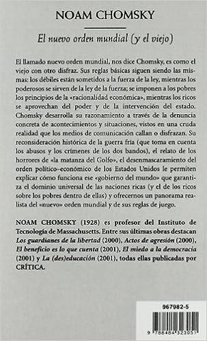 El Nuevo Orden Mundial Y El Viejo Biblioteca De Bolsillo Spanish Edition Chomsky Noam 9788484323051 Books