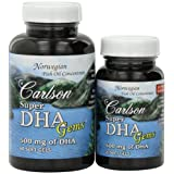 Carlson Labs Super DHA Mineral Supplement Softgels, 500 mg, 80-Count