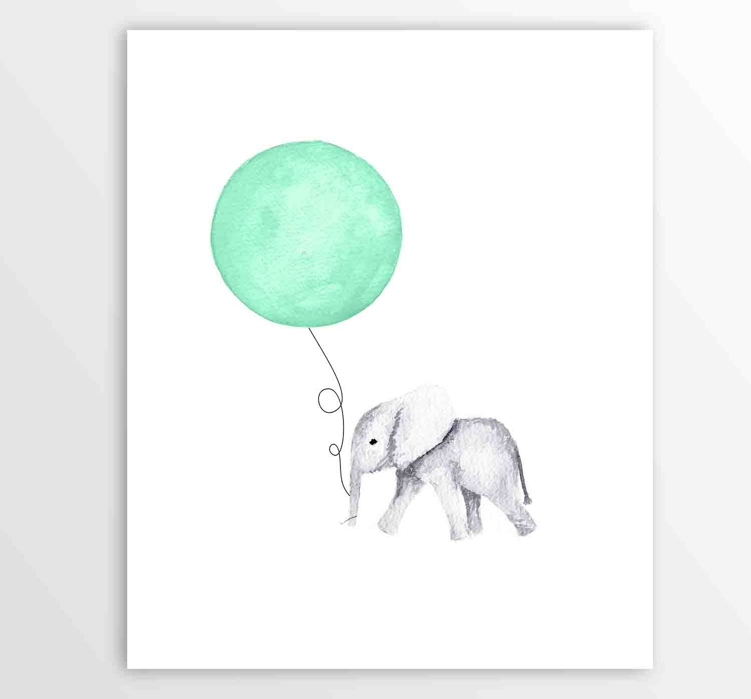 Amazon.com: Kids Wall Art, Nursery Art, Nursery Ideas Elephant