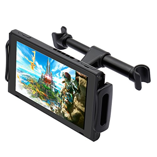 FYOUNG Car Headrest Mount for Nintendo Switch,Adjustable Car Holder for Nintendo Switch/iPhone/iPad and Other Devices (4