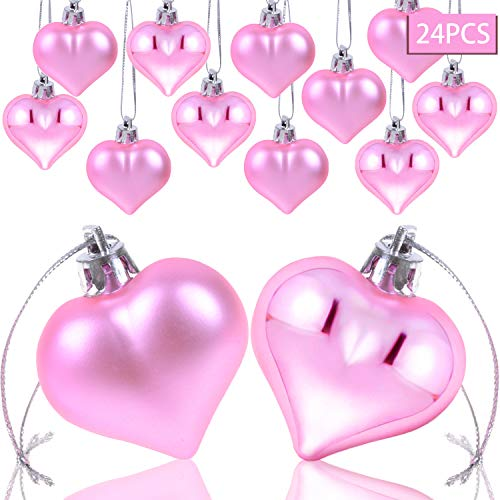 Heart Shaped Ornaments (AOPOO Heart Ornament for Wedding Heart Shaped Ornaments for Home Birthday Party Decoration, 2 Types Matt and Glossy Surface)