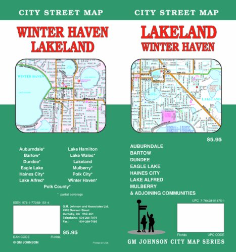 Winter Haven Florida Map.Lakeland Winter Haven Fl Map November 1 2011 Buy Online In