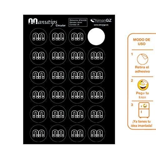 Imanes Flexibles para Fotos y Manualidades 24 unidades Manutips circular 40 mm di/‡metro. /É