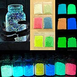 Glumes Stone Glow in The Dark Gravel, Fish Tank Aquarium Gravel Sand, Decorative Gravel Rocks,Aquarium Gravel for Fairy Decoration Blue Green 10G