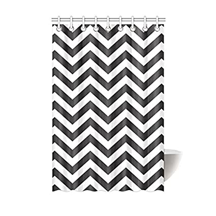 Amazon Shower Curtain Chevron Black And White Polyester Fabric