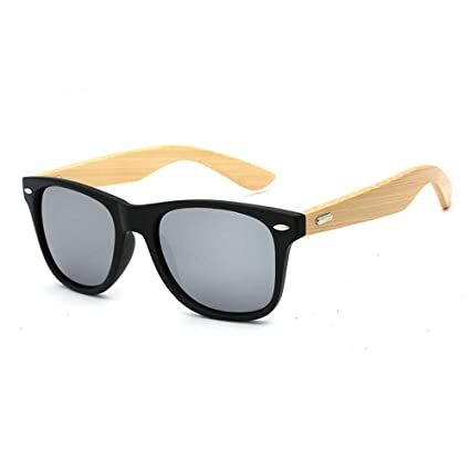 fb5d521a2a41 Pausseo Bamboo Frame Sunglasses Wooden Mens Womens Retro Vintage Eyewear  Running Cycling Fishing Driving Safety Softball