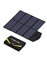 Solar Panel, X-DRAGON 40W SunPower Sola Charger (5V USB with SolarIQ + 18V DC) Laptop Charger for Phone, NoteBook, Laptop, Tablet, Apple, iPhone, ipad, iPod, Samsung, Android Smartphones