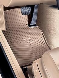 BMW E39 5 Series Genuine Factory OEM 82550151508 All Season Tan Front Floor Mats 525i 528i 530i 540i 1997 - 2003 (set of 2 front mats)