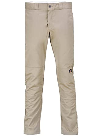 344696d16c0 Dickies WP811 Skinny Straight Fit Double Knee Work Pant Desert Sand 32W x  32L at Amazon Men s Clothing store  Dress Pants