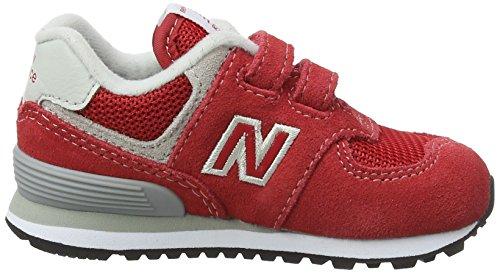 New Balance Iv574v1, Baskets Mixte enfant Rouge (Red/grey)