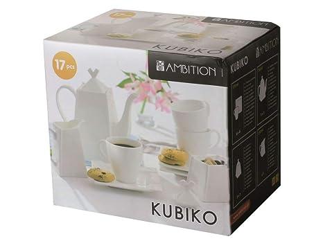 Juego de café, 17 elementos KUBIKO Ambition nuevo & embalaje original