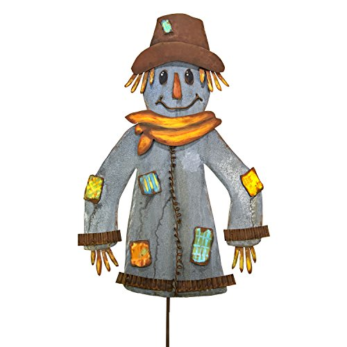 The Round Top Collection Galvanized/Rust Scarecrow - Metal