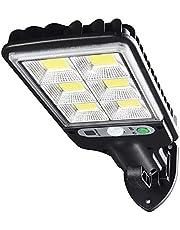 KIICN Luzes solares para ambientes externos, luzes de parede com sensor de movimento solar de 72 LEDs com 3 modos de iluminação ampla de 120° à prova d'água, luzes de rua solares de LED para jardim e quintal, luzes solares do crepúsculo ao amanhecer