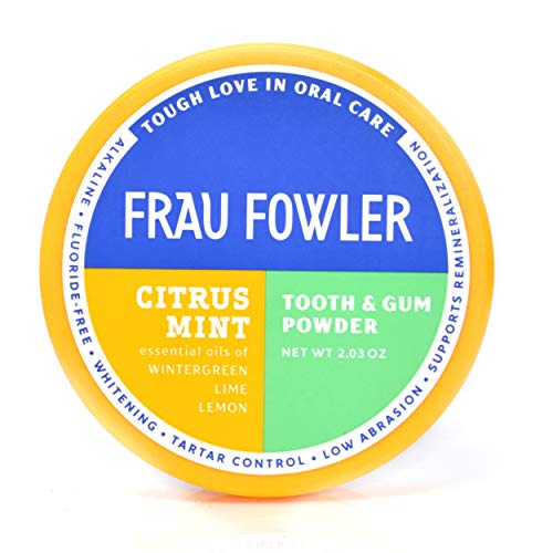 Natural Oral Care - CITRUS MINT Tooth Powder, Botanically Clean, Teeth-Whitening, Remineralizing, Fluoride Free, Gluten Free, SLS Free -Restores Enamel and Freshens Breath, 2 oz