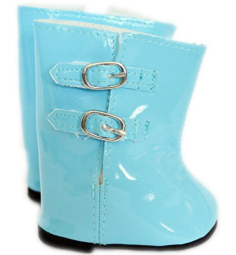 LIGHT BLUE RAIN BOOTS FOR AMERICAN GIRL DOLLS AND BITTY TWIN