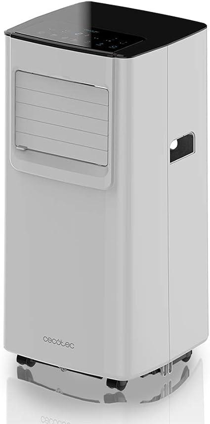 Cecotec Aire Acondicionado Portatil ForceSilence Clima 7050. 1800 Frigorías, 3 Funciones(Frío, Ventilador, Deshumidificador), Caudal 300m³/h, Programable 24h, Mando a ...