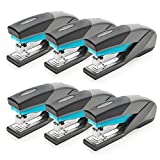 Swingline Staplers, Optima 25, 25 Sheet Capacity, Reduced Effort, Full Size, Blue/Gray, 6 Pack (S7066404CS)