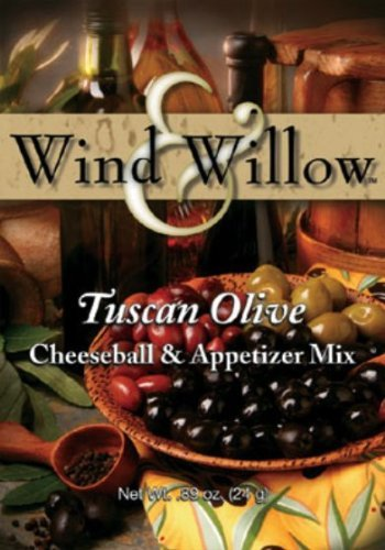 Wind and Willow Tuscan Olive Cheeseball Mix - .89 Ounce (4 Pack) (Tuscan Olive Cheeseball)