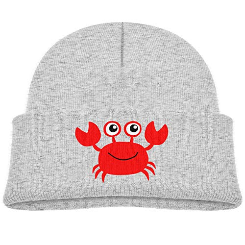 Infant Toddler Baby Kids Knitted Beanies Hat Red Crab Winter Hat Knitted Skull Cap for Boys Girls Gray ()