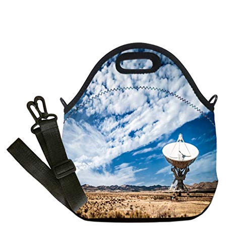 Array Telescope Very Large - Insulated Lunch Bag, Reusable Outdoor Travel Picnic School Very Large Array radio telescopes New Mexico custom Stylish Lunch Bag, Multi-use for Men, Women and Kids