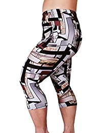 Zerdocean Women's Plus Size Lightweight Printed Capri...