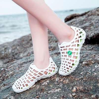 Xing Lin Sandalias De Hombre Los Hombres Del Agujero De Verano Zapatos Zapatillas Hombres Zapatillas De Playa Grande Pareja De Patinaje Baotou Sandalias Zapatos De Hombre white