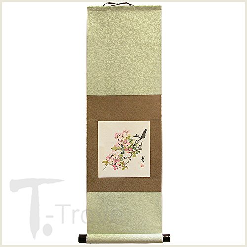 Hand painted Cherry Blossom, sakura, Scroll