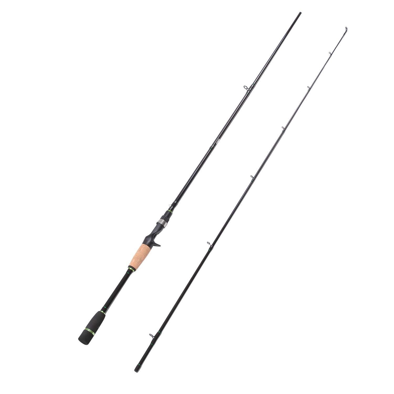 Fiblink Carbon Fiber Baitcasting Rod Portable Lightweight Bass Fishing Rod Fuji Guides Casting Rod 2-Piece 3-Piece Baitcaster