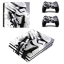 Adventure Games PS4 PRO - Star Wars, Stormtrooper Fade - Playstation 4 Vinyl Console Skin Decal Sticker + 2 Controller Skins Set