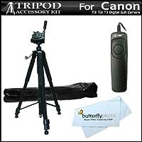 """Trípode de cámara profesional de 72 """"+ interruptor remoto RS60 para Canon EOS Rebel T5i, T4i, T3i, T2i T3, EOS 60D, EOS 70D DSLR, Canon PowerShot G16, SX60HS, SX60 HS Cámara digital (Reemplaza Canon RS-60e3) ++"""