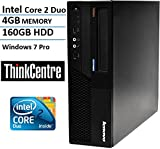 Lenovo ThinkCentre M58 Small Form Factor High Performance Business Desktop Computer (Intel Core 2 Duo 3.0GHz, 4GB RAM, 160GB HDD, VGA, DVD, Rj45, Windows Professional) (Certified Refurbished)
